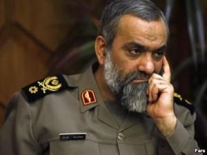 Mohamma Rez Naghdi, commander of Iran's Basi Militia.