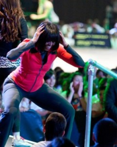 Jackie Kennedy, she ain't. Michelle Obama recently shaking her groove thang for school children.