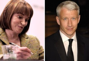 Gloria Vanderbilt and son, Anderson Cooper.
