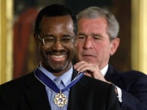 Doctor Carson receives his well earned Presidential Medal of Freedom.