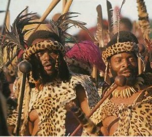 Chief  Buthelezi and his cousin, King Goodwill Zwelithini.