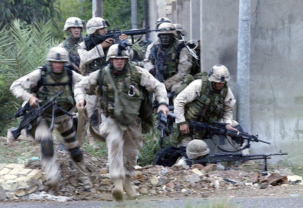 Marines fight and take Fallujah. Obama gave it away.