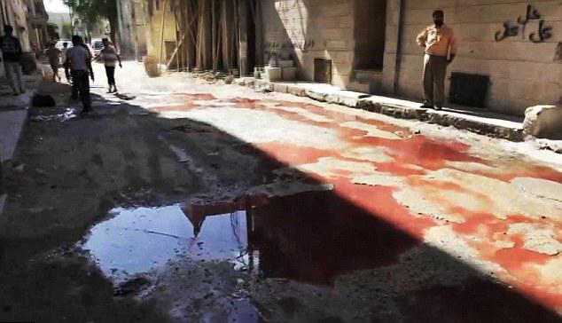 Streets of Syria literally awash in blood.