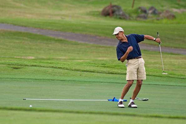 Obama+golfs