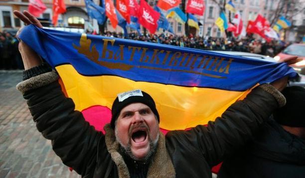 A patriotic Ukrainian stands firm.