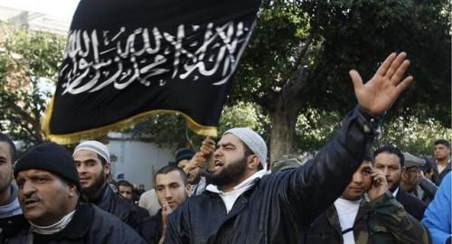 The flag of al-Qaeda flies in Deutschland.