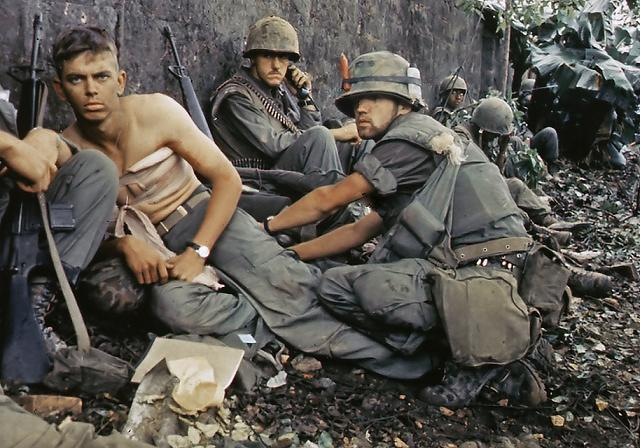 Wounded Marine, Hue City - 1967.