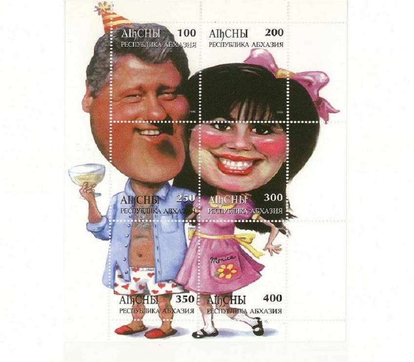 Clinton_Lewinsky_1998_Abkhazia_stamp
