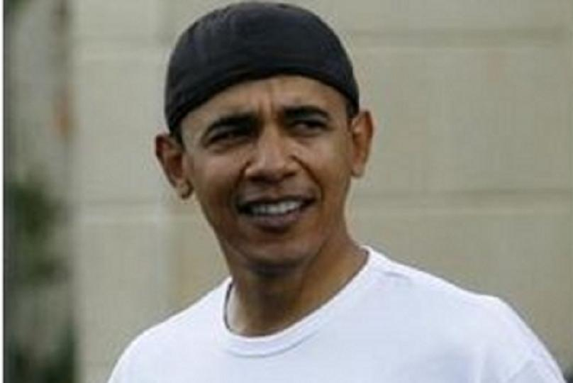 Obama in a Doo Rag