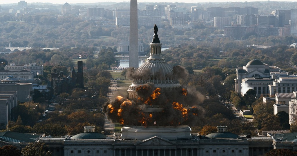 Film dramatization of DC under attack.