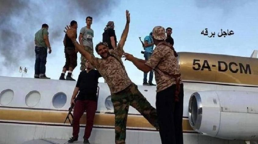 The 2014 capture of airliners by Jihadists.