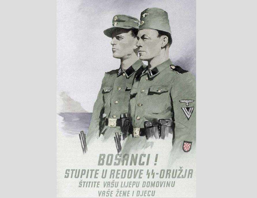 SS recruiting poster for Bosnian Muslims.