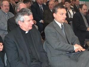 Bishop László Kiss-Rigó and the Prime Minister.