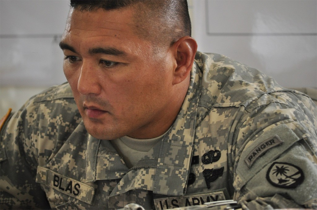 Just another All-American boy. Sergeant First Class Manuel Blas of the Guam Army National Guard.