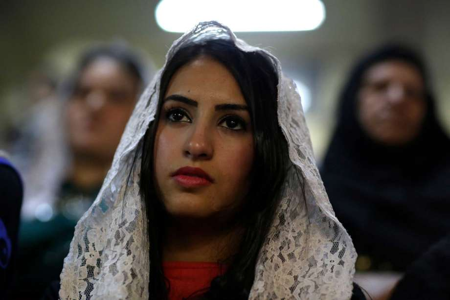 Endangered species - Egyptian-Christian woman publicly proclaiming her Faith.