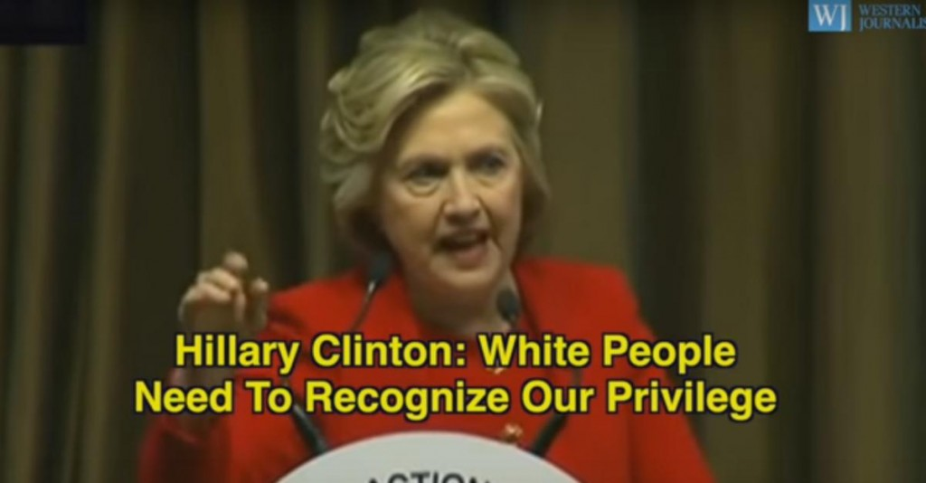 Clinton blames all white people.