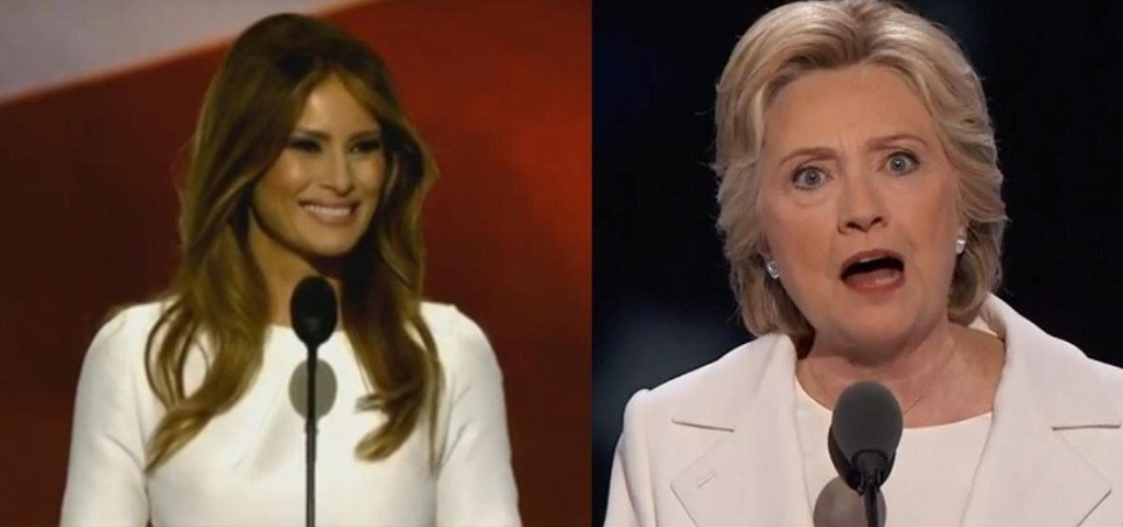 Melania and Hillary are the same... but somehow different.