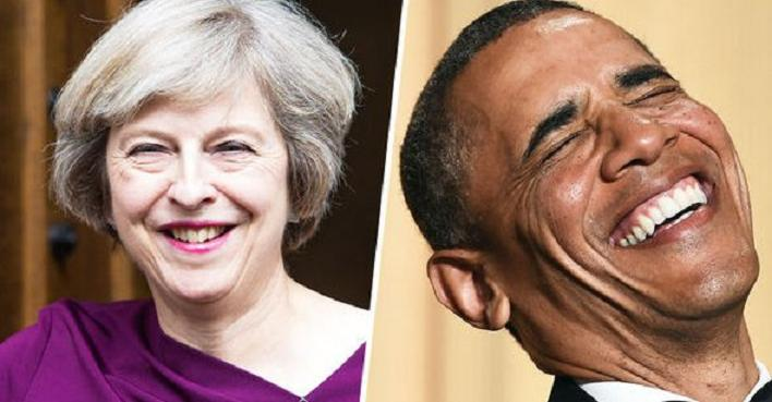 Theresa May and Barry Soetoro.