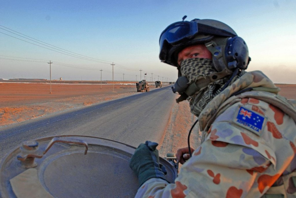 Aussie military looking for American troops.