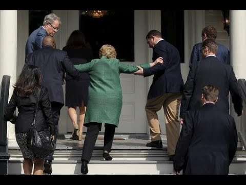 Granny Clinton struggles up a handful of steps. (Photo: Youtube)