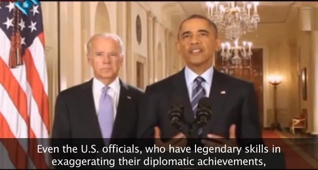 Iran yuks it up. Photo: Screen capture - Youtube.