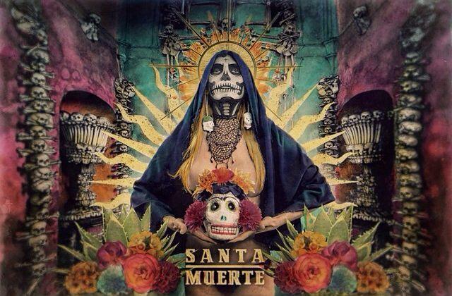 Santa Muerte - Satanism hiding behind a thin mask of Christianity. (Pinterest)