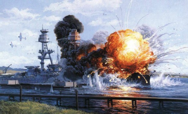 Death of the Arizona. Pearl Harbor, Hawaii.