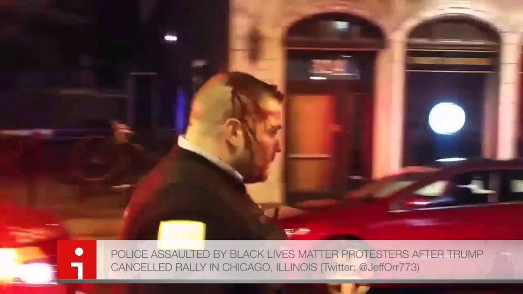 Chicago's finest assaulted by those he was protecting (photo: screen capture, Youtube).