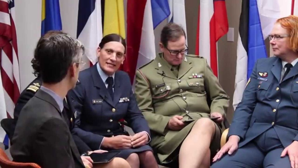 """Transgendered"" members of the British military. (Youtube)"