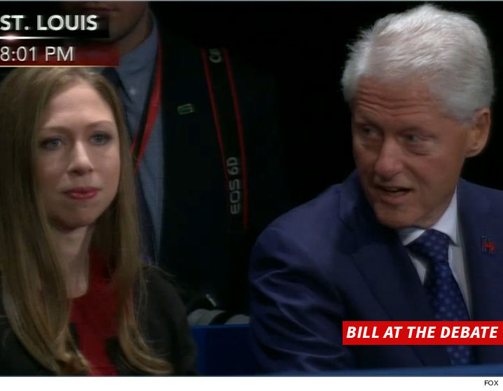 Chelsea and Bill Clinton react the the Trump thrashing Hillary received from The Donald. (FNC)
