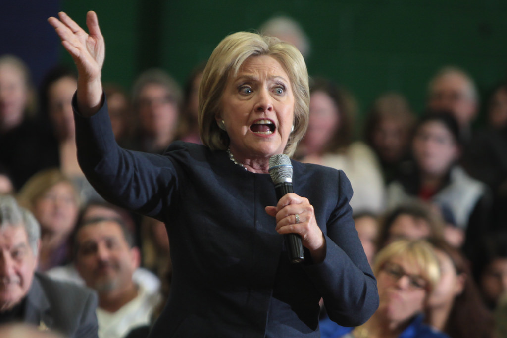 Set on the angry mode, Hillary Clinton rants on. (Wiki)