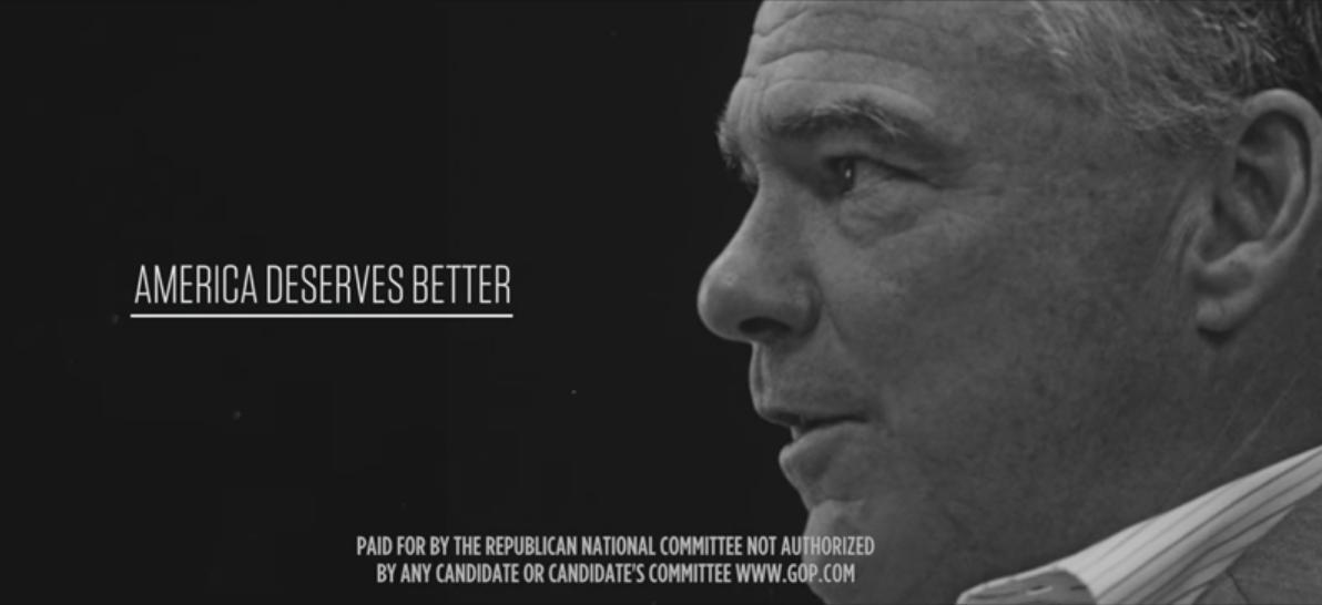 Tim Kaine - America deserves better. (Youtube)