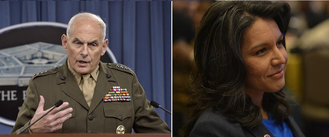 General Kelly and Rep. Gabbard. (Wikimedia-Commons)