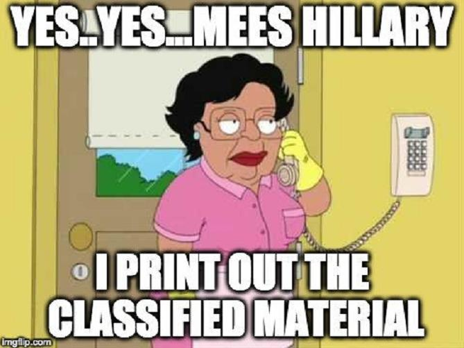 Classified shmashified.... Hillary does what Hillary wants. (Twitter)