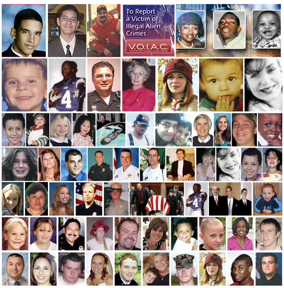 Just a few of our fellow Americans murdered by illegal aliens (Facebook).