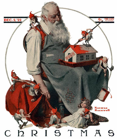 The traditional image of Santa Claus, aka: Saint Nicholas. (Wikimedia Commons)