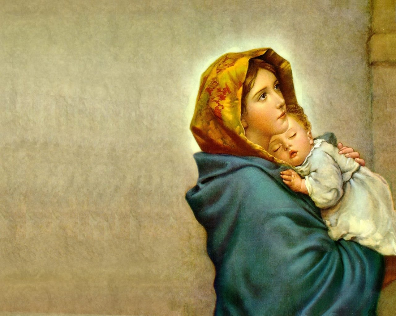 The Blessed Virgin Mary and the Christ Child. (Twitter)