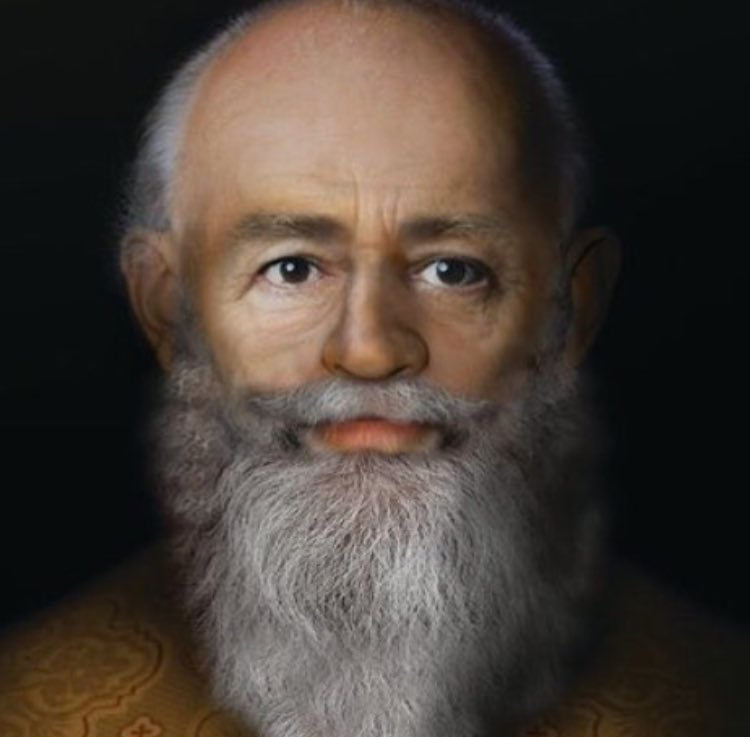 Reconstructed image of the real Saint Nicholas. (Twitter)