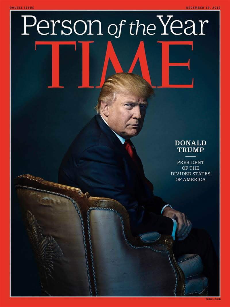 Time magazine's Man of the Year for 2016 - Donald Trump. (Twitter)