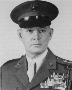 General Lemuel C. Shepherd, Jr. (Navy Cross, Army DCS, three Silver Stars, two Legions of Merit with Combat V, Bronze Star with Combat V, four Purple Hearts, four Presidential Unit Citations, the French Croix de guerre, the French Fourragère.)