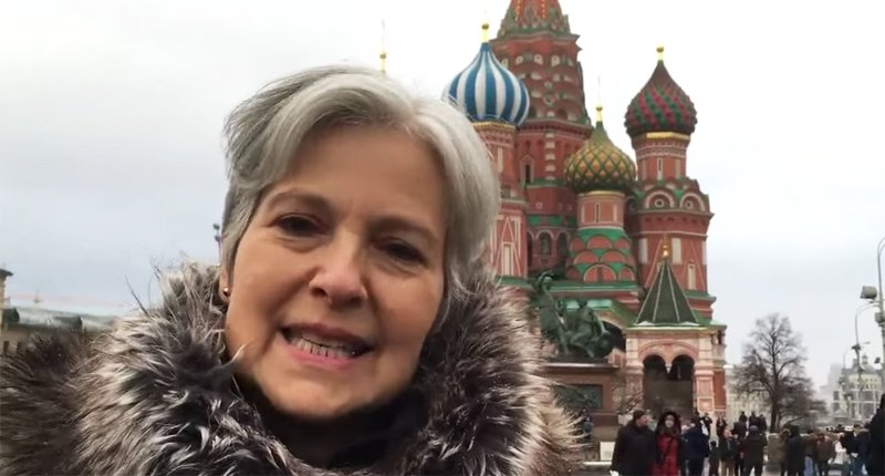 Jill Stein visits her ancestral homeland. (Youtube)