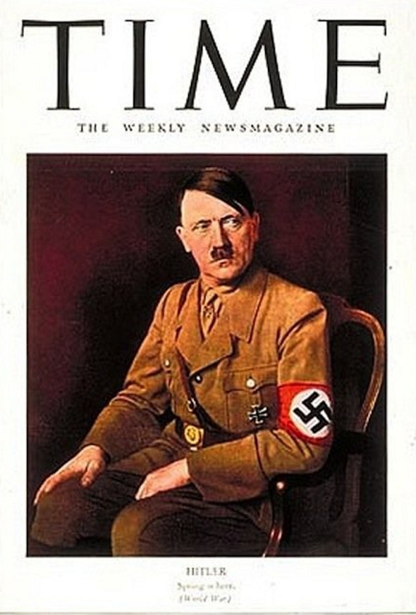 Adolf Hitler, Time magazine's Man of the Year in 1939. (Twitter)