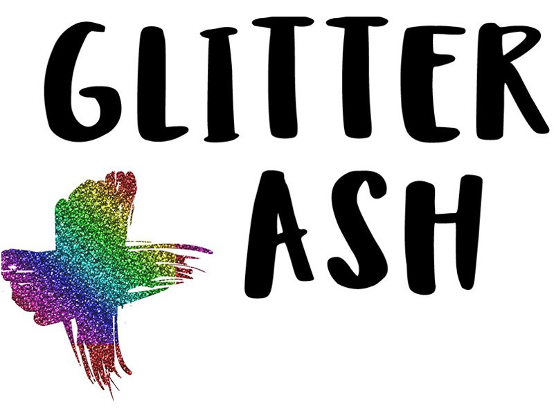 Glitter gay Ash Wednesday. (Twitter)