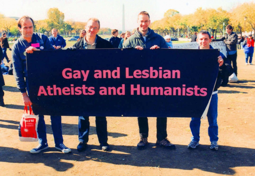 Godless gays on parade. (Wiki)