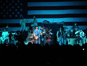 Kid Rock, American singer/songwriter, and Twisted Brown Trucker Band, performs at the Tour for the Troops concert inside Hangar 1 at Ramstein Air Base, Germany, Dec. 9, 2009. (Wikimedia-Commons)