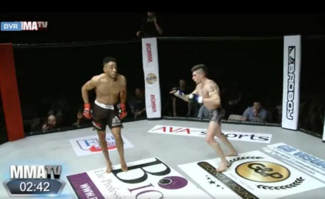 MMA beatdown. (Youtube)