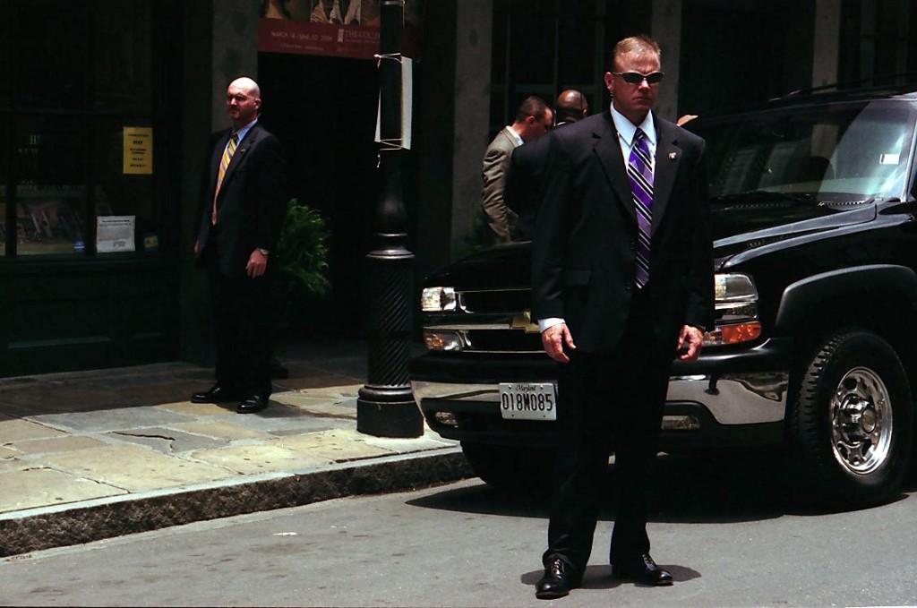 Secret Service protects President Trump. (Wiki)