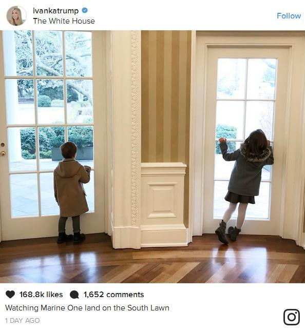 The Marines have landed. (Ivanka Trump Instagram)
