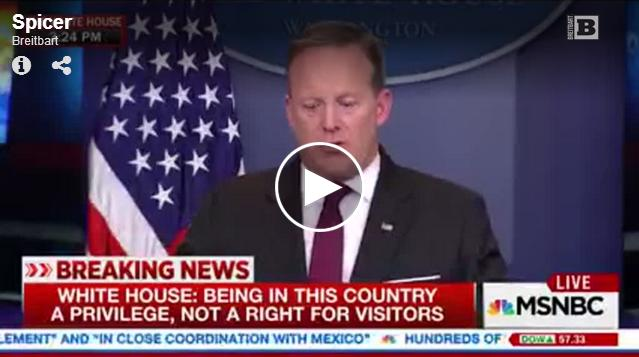 Sean Spicer slams NY Times reporter. (Screen grab - Breitbart)