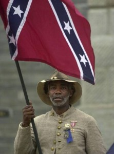 H. K. Edgerton, a member of the Sons of Confederate Veterans. H.K. is a former president of the Asheville, NC chapter of the NAACP. (Facebook)